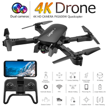 RC Drone with 4K HD Camera FPV WIFI Altitude Hold Function Selife Dron Folding Quadcopter Vs E58 SG106 M69 xs816 Drones