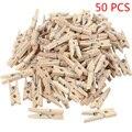50 шт./100 шт. 25 мм Мини зажимы из натурального дерева для фото зажимы крафтовые декоративные зажимы