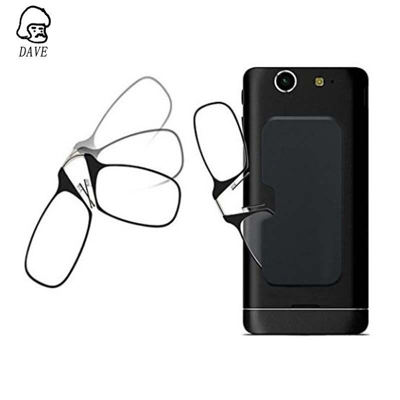DAVE Brand Legless Clip Nose Reading Glasses Men's And Women's Mini Presbyopic Glasses Portable Glasses Sticky Mobile Phone Case