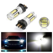 CANBUS PW24W PWY24W LED 전구 방향 지시등 주간 주행등 DRL 30 SMD 아우디 BMW 폭스바겐 Ambe 화이트 12V, 2 개
