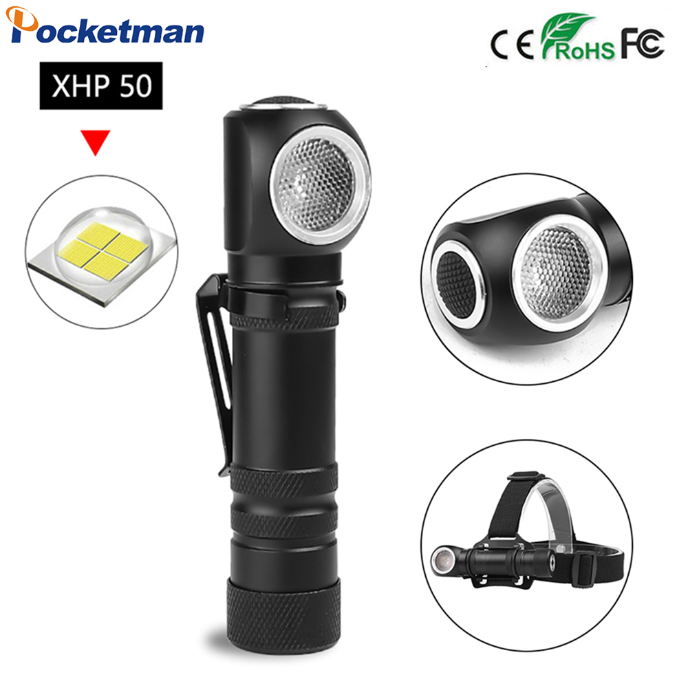 XHP50 LED Torch Flashlight Led Headlamp Led Head Lamp Multifunctional Magnetic Headlight Led Built-in Battery Head Front Torch