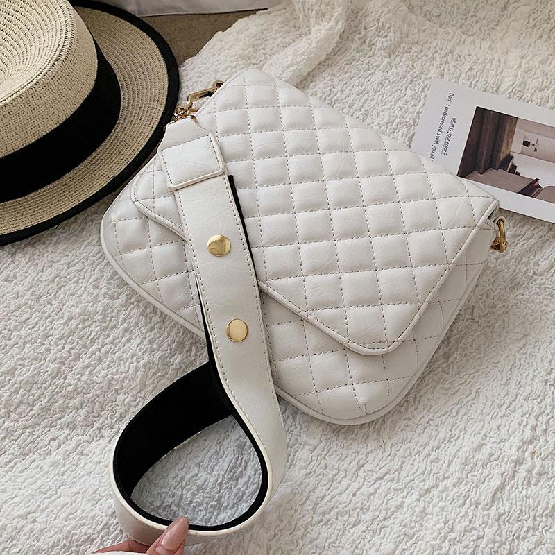 Elegant Female Square Crossbody Bag 2019 Fashion New Quality PU Leather Women's Designer Handbag Lattice Shoulder Messenger Bag
