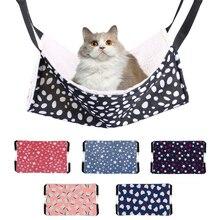 Кошка спальный мешок коврик висячий двухсторонний Кот гамак доступная теплая кровать для кошки дом питомца собаки кошки принадлежности