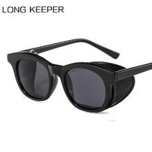 Vintage Steampunk Sunglasses Men Women Side Shield Sun Glass
