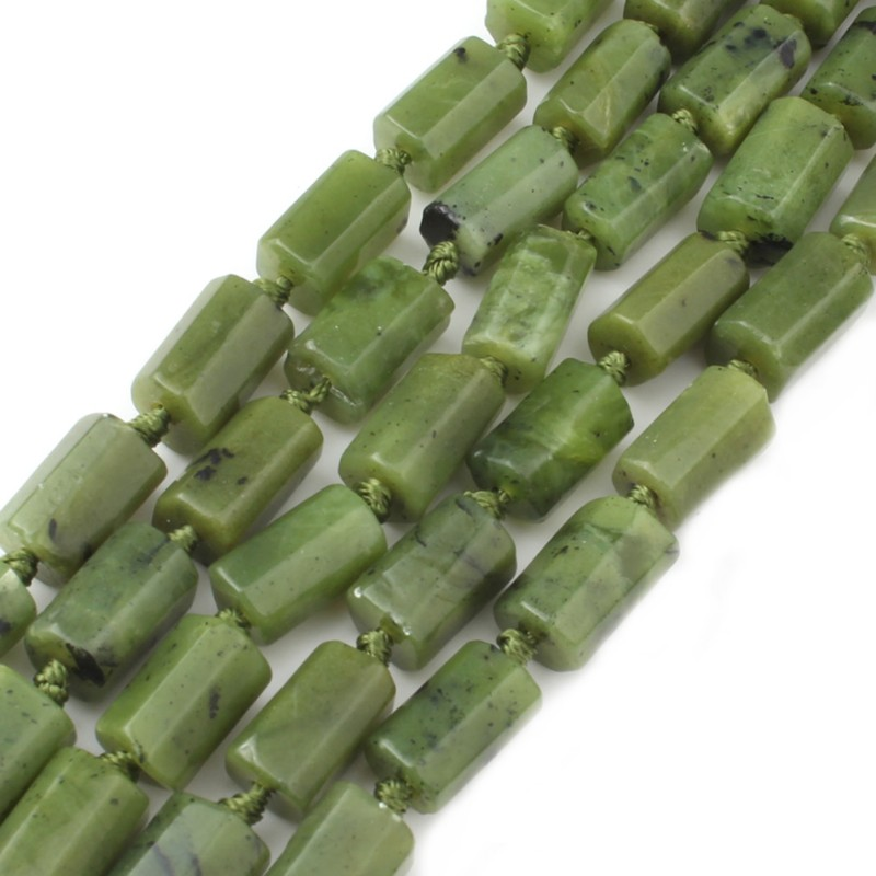 6X10mm Green Canada Jade Cylinder Loose Natural Stone Beads For Jewelry Making DIY Charm Bracelet Necklace 7.5 Inch New Arrival