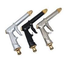 Pistolet à eau multifonctionnel pour lavage de voiture, 1 pièce, galvanoplastie, en alliage daluminium audacieux, outil darrosage de jardin