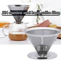 Dupla camada de aço inoxidável filtro café titular despeje sobre cafés dripper malha reutilizável café chá filtro cesta ferramentas