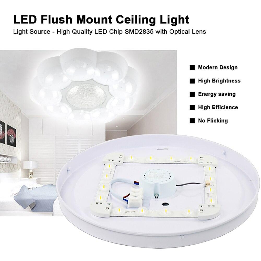 Светодиодный потолочный светильник с милыми цветами, акриловая Современная светильник ПА для мальчиков и девочек, для спальни, детской комнаты, кабинета