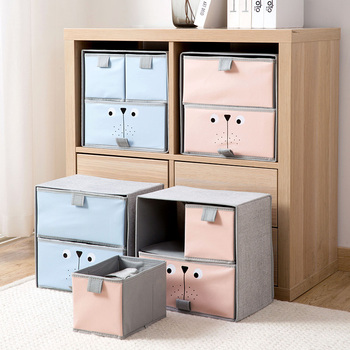 Drawer Type Double Layer Storage Box Underwear Storage Box Wardrobe Clothes Bra Multi-grid Box Wardrobe Storage Organizer new
