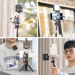 Image 5 - Ulanzi Foldable Aluminum Alloy Phone Clamp Holder Mount Adapter with Cold Shoe Mount for Smartphone Mic LED Light Mounting