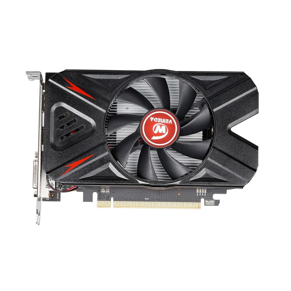 VEINEDA Оригинал RX 550 4 Гб видеокарты GPU AMD Radeon RX550 4 ГБ GDDR5 видеокарты PC Настольный компьютер игровая карта PCI-E X16-5