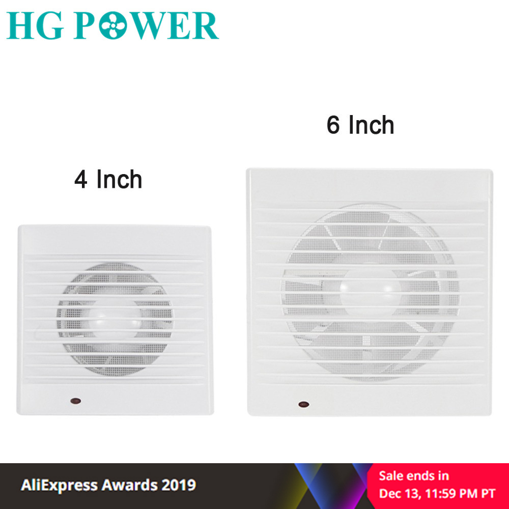 4/6 Inch 220V Silent Ventilation Grill Air Ventilator Air Extractor Exhaust Fan Wall Ceiling Fan For Bathroom Kitchen Air Vents