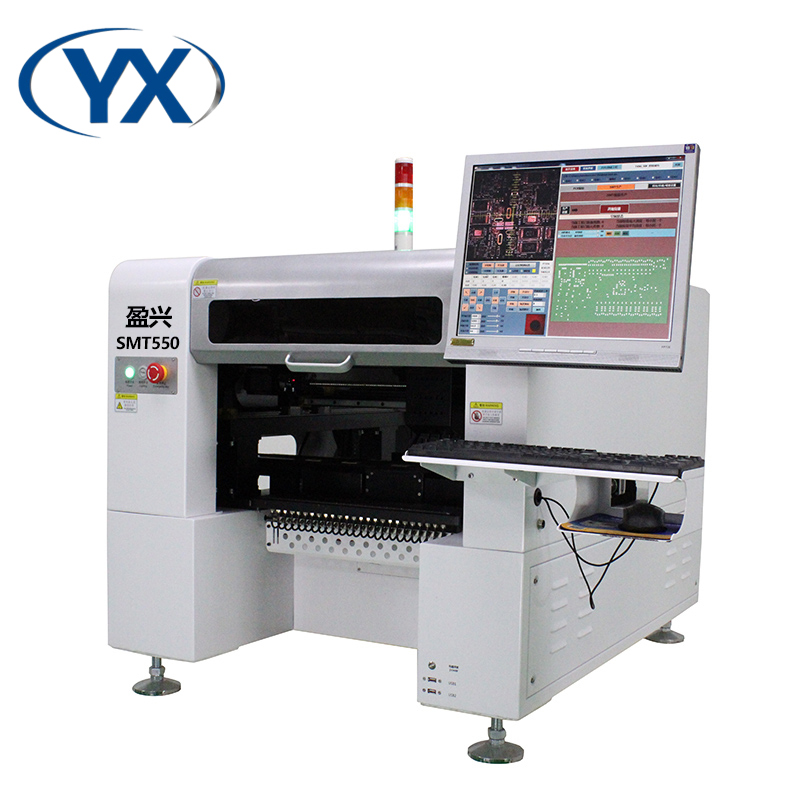 High speed        and        precise SMT550 chip mounter for led bulb assembly line with servo motor