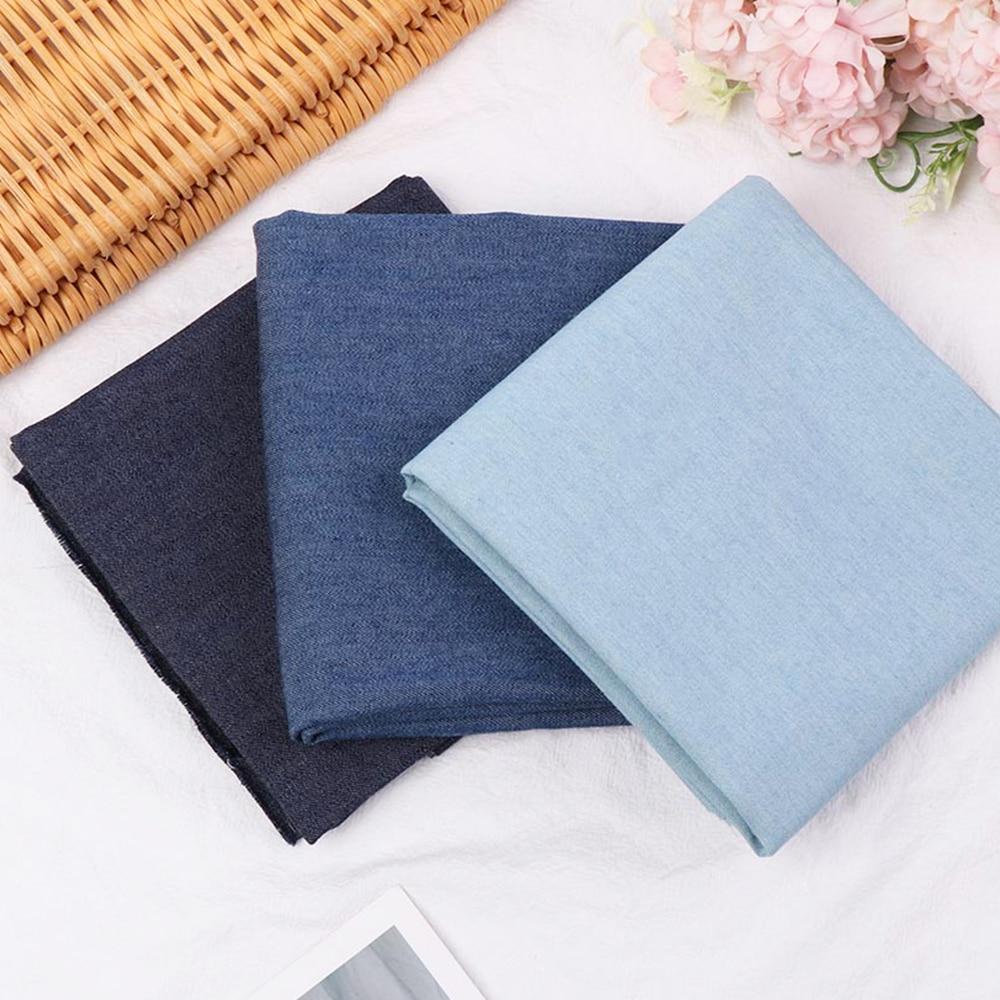 Хлопчатобумажная ткань 50*75 см, потертая джинсовая одежда, домашний текстиль, постельное белье, швейная одежда ручной работы, домашнее плать...