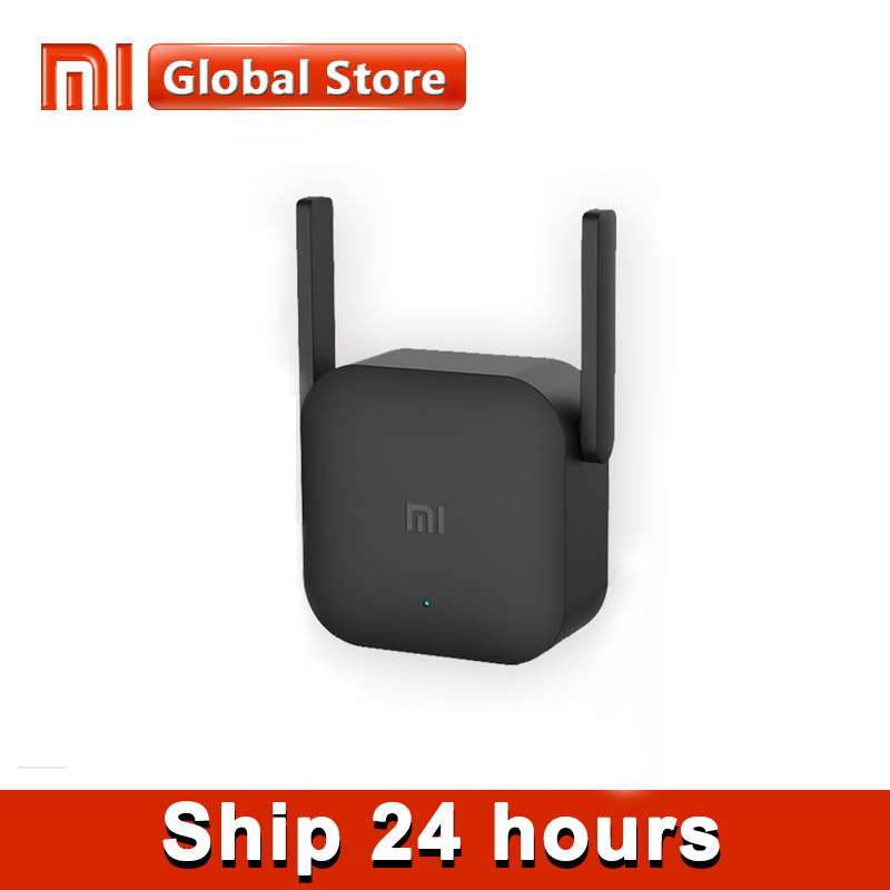 Xiaomi-Amplificador WiFi Mi Pro, original, repetidor inalámbrico de router de 300Mbps, 2.4GHz, color negro