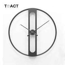 북유럽 금속 벽시계 레트로 철 라운드 얼굴 대형 야외 정원 시계 홈 인테리어 벽시계 현대 디자인 reloj pared