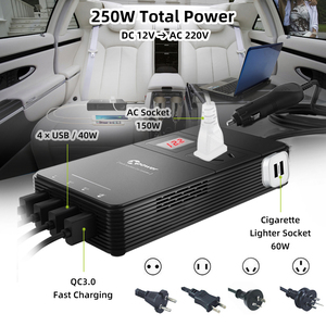 Image 2 - XP Car Power Inverter DC 12V to AC 220V 230V Voltage Converter with Air Purifier QC 3.0 USB Charger Auto Inversor 12 V 220 V
