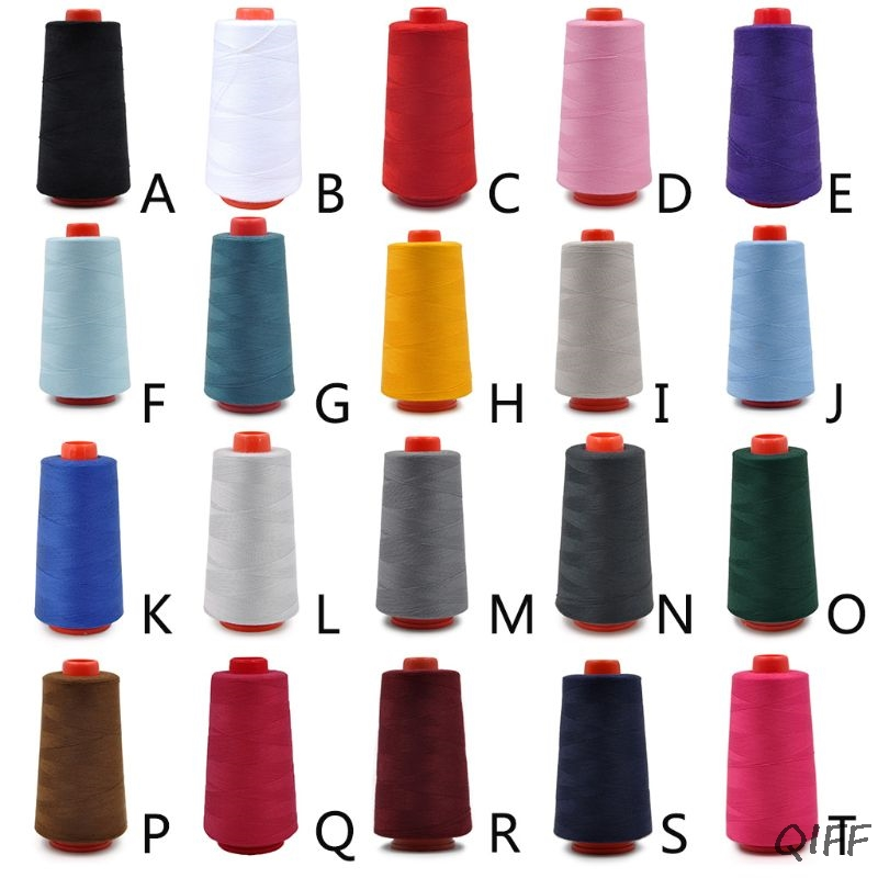 20 Colors 40S/2 3000 Yards Polyester Sewing Thread Multicolored Stitching Yarn