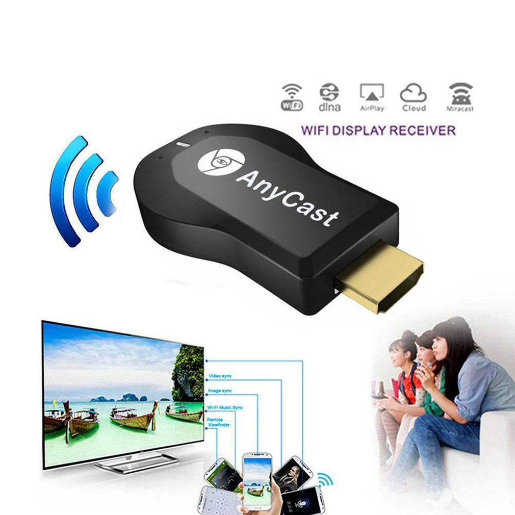 1 Anycast M4plus Chromecast 2 Mirroring Multiple TV Stick Adapter Mini  Android Chrome Cast HDMI WiFi Dongle 1080P Free Shipping