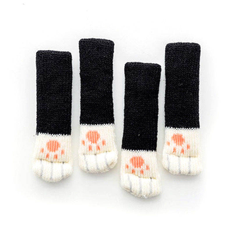4Pcs Furniture Chair Leg Cover Pad Anti-slip Floor Knitting Sock Table Feet Mat MU8669