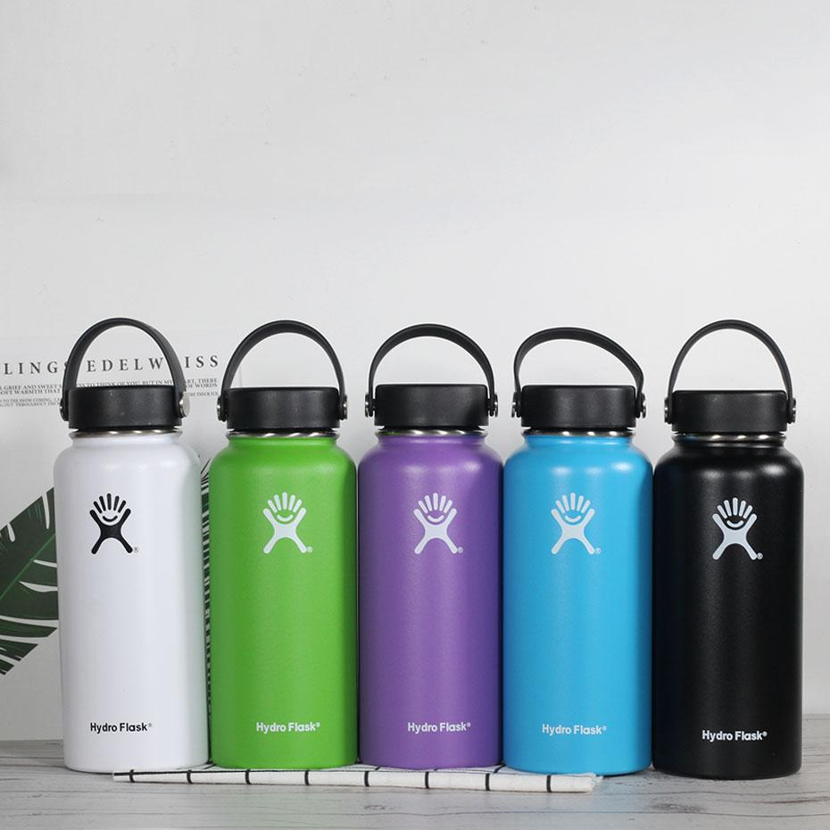 Frost 32/40/18oz Stainless Steel Water Bottle Hydro Flask Water Bottle Vacuum Insulated Wide Mouth Travel Portable