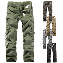 Cargo Pants Men Vintage Loose Mens Pants Fashion 2020 Aesthetic Clothings Streetwear Cargo Green Loose Camouflage Black