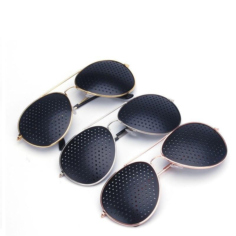 CUBOJUE pinhole glasses improve vision aviation unisex eyewear Anti-fatigue 2 pcs/lot cheap wholesale