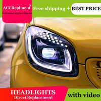 Estilo del coche para los faros inteligentes de BENZ 2015-2017 para la barra de luz LED inteligente BENZ Q5 bi LED lente bombilla para proyector