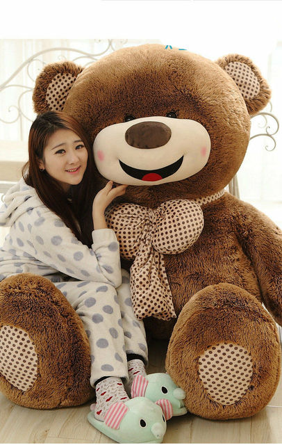 72in. Giant Big Teddy Bear Plush Soft Toys Doll Pillow Only Cover With Zipper Cute Plush Toys For Girls