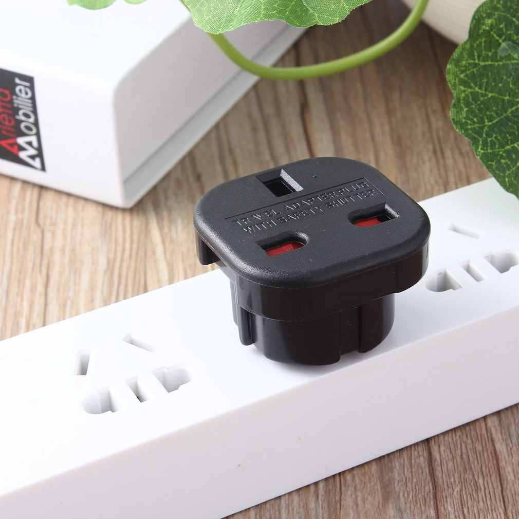 Nieuwe Universal 2 Pin Ac Power Plug Adapter Connector Travel Power Plug Adapter Uk Naar Eu Adapter Converter Groothandel