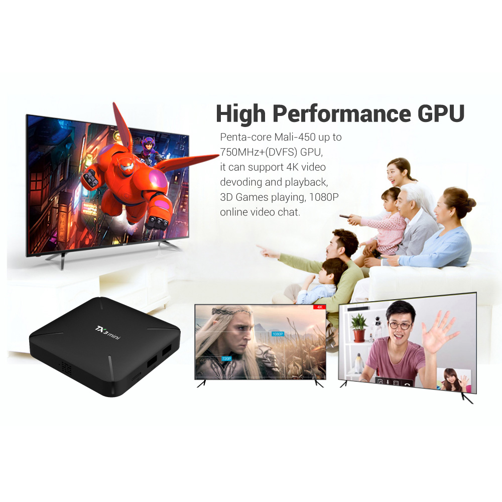 NEW <font><b>TX3</b></font> <font><b>MINI</b></font> HTV Smart TV BOX <font><b>Android</b></font> <font><b>7.1</b></font> 4K S905W Quad-core Cortex-A53 Mali-450MP5 2.4G Wireless WIFI Set Top Box tx3mini image