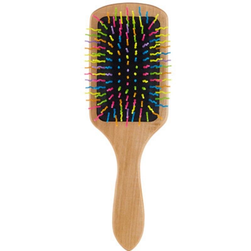 Escova de cabelo de madeira natural, escova