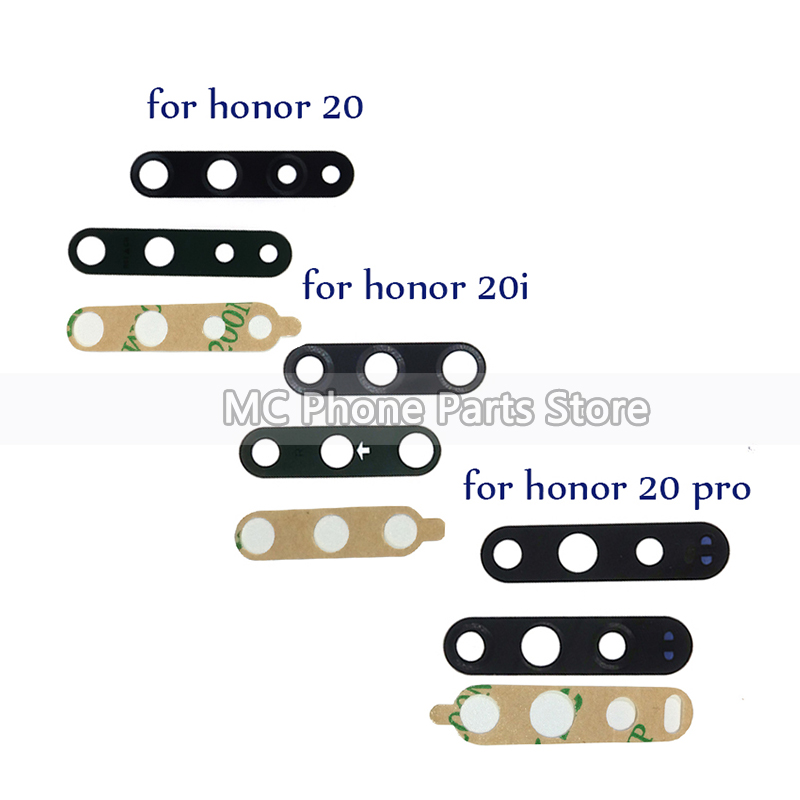 New Back Rear Camera Glass Lens Cover For Huawei Honor 20 20i 20 Pro With Sticker Tape Replacement Parts