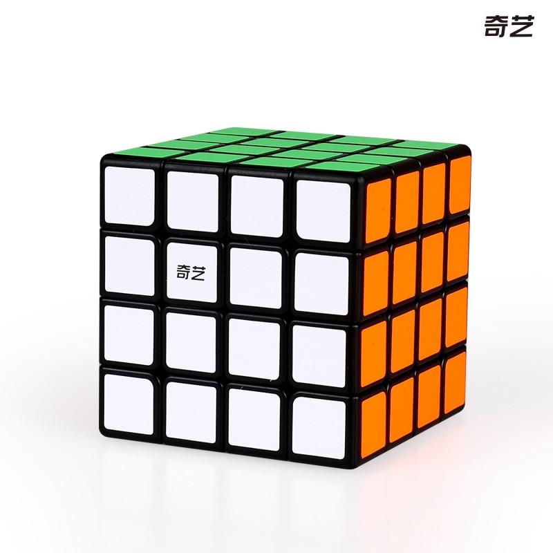 QiYi Qiyuan 4x4x4 Layers Speed Magic Cube Twist Puzzle Intelligence Toys Black