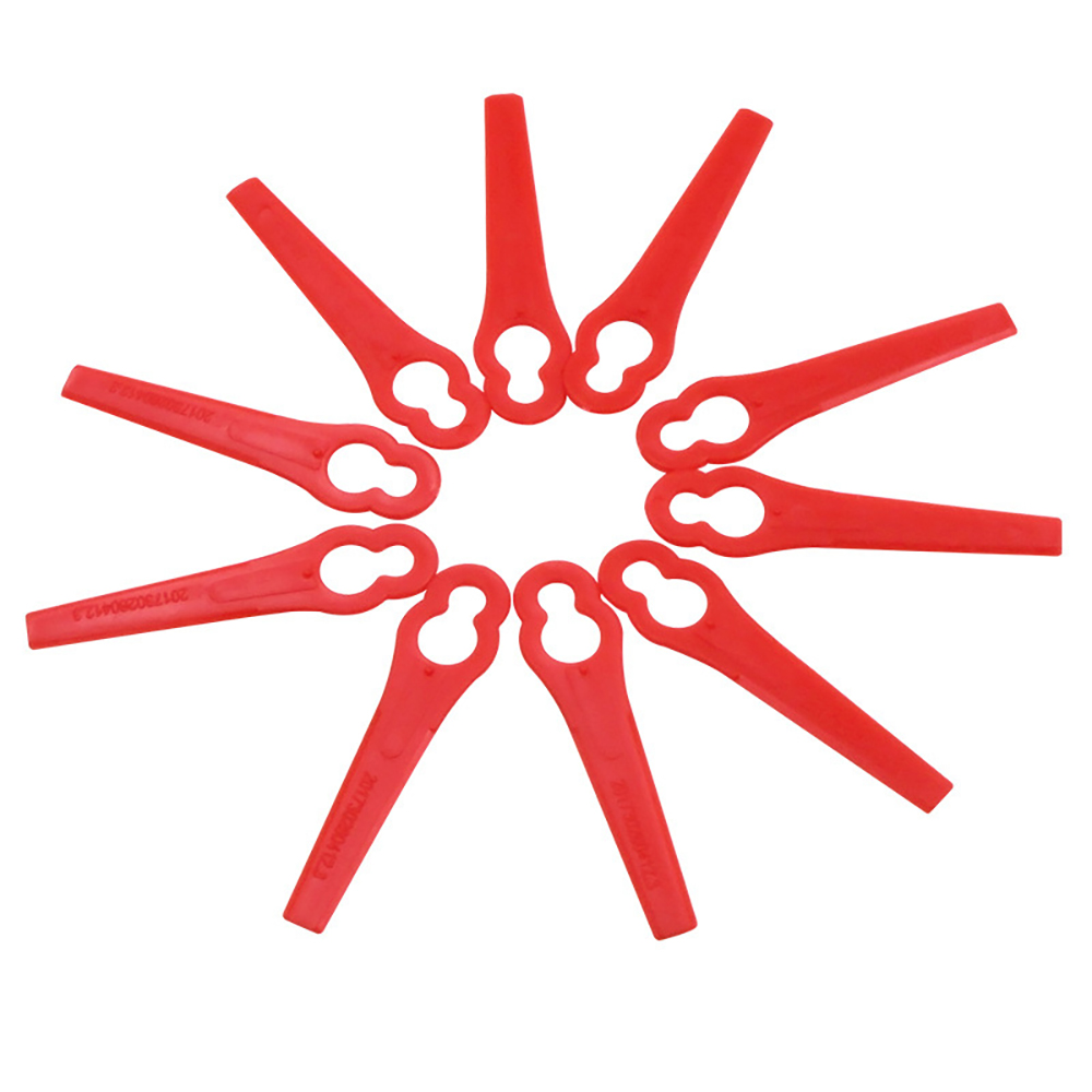 100pcs Red Replace Plastic Blades Pendants Cutter For Cordless Grass Trimmer Brushcutter Garden Tool Accessories