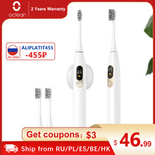 Oclean X – brosse à dents électrique sonique, Version globale, écran tactile LCD couleur IPX7, 4 Modes de brosse, Charge rapide, brosse à dents 30 jours