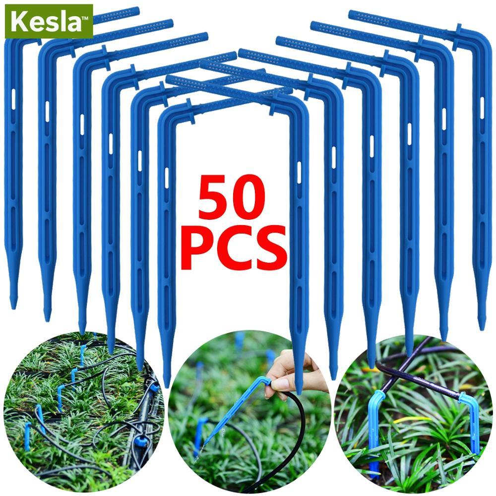 50 Pcs Bocht Druppelen Pijl Druppelaar Micro Drip Irrigatie Kit Emitters Voor 3/5 Mm Slang Tuin Watering Saving micro Dripper Greenhouse