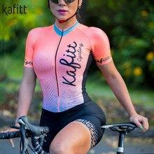 Conjunto de equipo profesional de triatlón para mujer, sudadera de manga corta, medias sexys de una pieza, traje de baño para montar en bicicleta