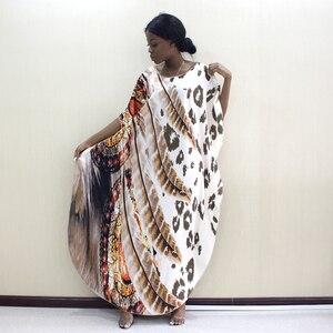 Image 5 - 2019 Dashikiage أحدث الجدد ليوبارد و ريشة نمط طباعة الأفريقية Dashiki زائد حجم النساء اللباس أزياء النساء حزب اللباس