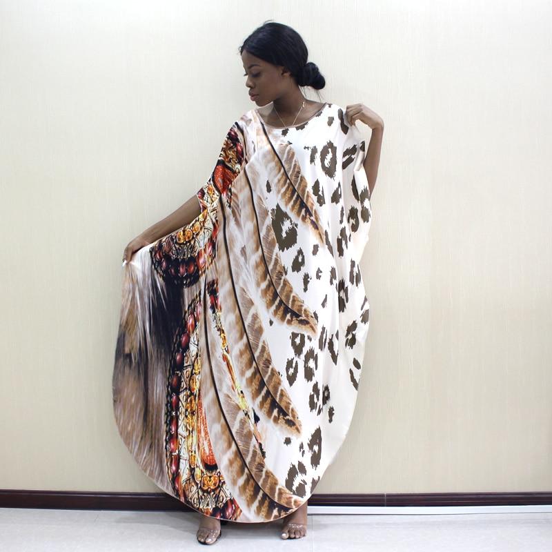 Image 5 - 2019 Dashikiage Latest Arrivals Leopard & Feather Pattern Print African Dashiki Plus Size Women Dress Fashion Women Party DressAfrica Clothing   -