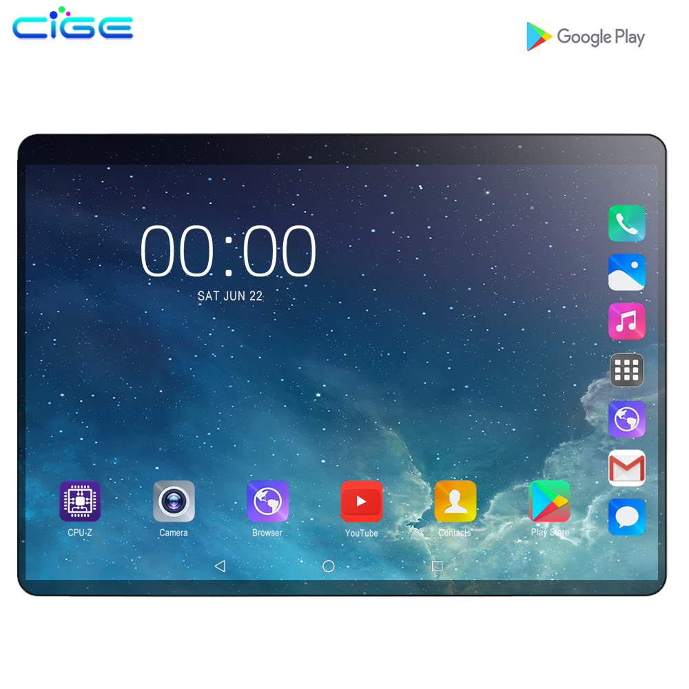 Mx960 10.1 Inch Tablet Android 9.0 6GB 128GB ROM Octa Core WiFi HD IPS Screen 2.0MP+8.0MP Camera Tablets PC 4G Lte Phone Call 10