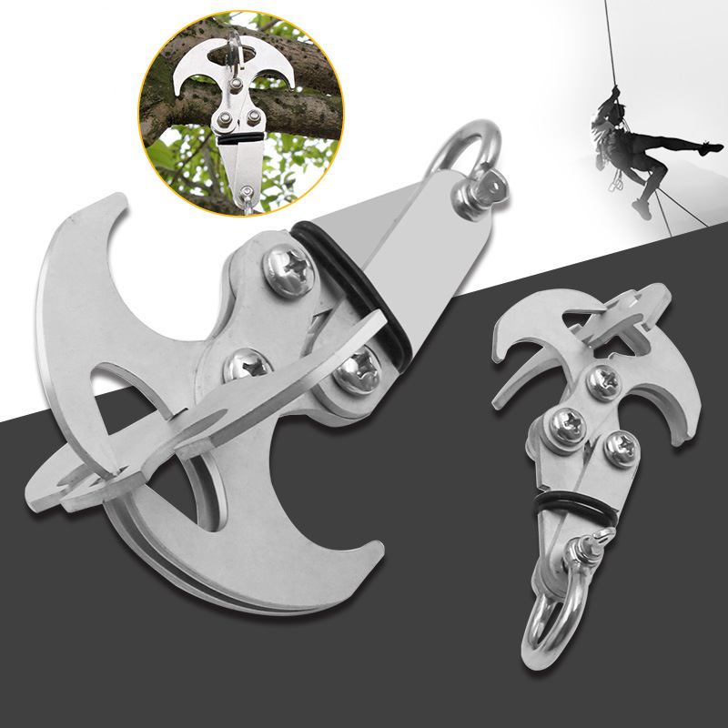 Stainless Steel Survival Folding Grappling Hook Outdoor Climbing Claw Tool Kits
