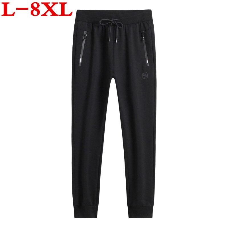 8XL Plus Size Casual  Jogger Brand Men  Pants Hip Hop Harem Joggers Pants  Male Trousers Mens Joggers Solid Pants Sweatpants