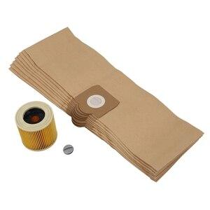 Sacos do líquido de limpeza do filtro da substituição para o filtro do saco de karcher wd3 wd 3.300 m wd 3.200 wd3.500 se 4001 se 4002 wd3 p 6.959 130|Peças p/ aspirador de pó| |  -