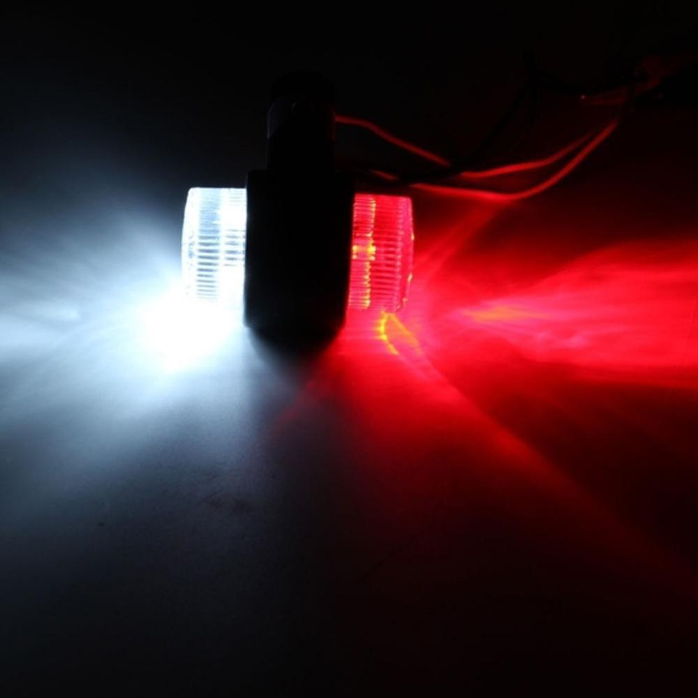 2 4Pcs 10 30V 8 LEDs Red White Double Sides Marker Trailer Lights Warning Lamp for Car Truck Vhicles Tail Led Light in Signal Lamp from Automobiles Motorcycles