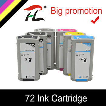 YLC Compatible with HP 72 Ink cartridge for HP Designjet T1100 T1120ps T1100ps 1100 T610T1100 printer for HP72 ink cartridges image