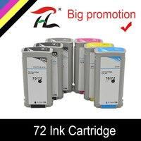 YLC ile uyumlu HP 72 mürekkep HP için kartuş Designjet T1100 T1120ps T1100ps 1100 T610T1100 yazıcı HP72 mürekkep kartuşları