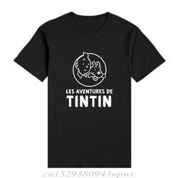 Nowe modne koszulki 3D Cartoon Tintin Adventure klasyczne animacje koszulki koszulki z krótkim rękawem niestandardowe koszulki na co dzień