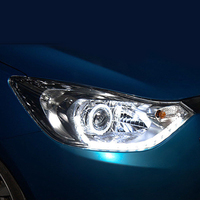 Headlight assembly for mazda sail 3 angel eye turn signal Bi lens HID bulbs with 65W Ballast, left and right
