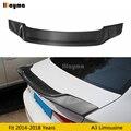 R Stil Carbon Fiber hinten stamm spoiler Für Audi A3 8 V limousine 4 Tür limousine Sline S3 2014- 2018 jahr Auto hinten flügel spoiler